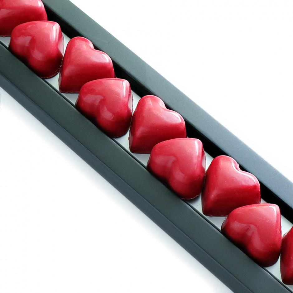 bombones con forma de corazón