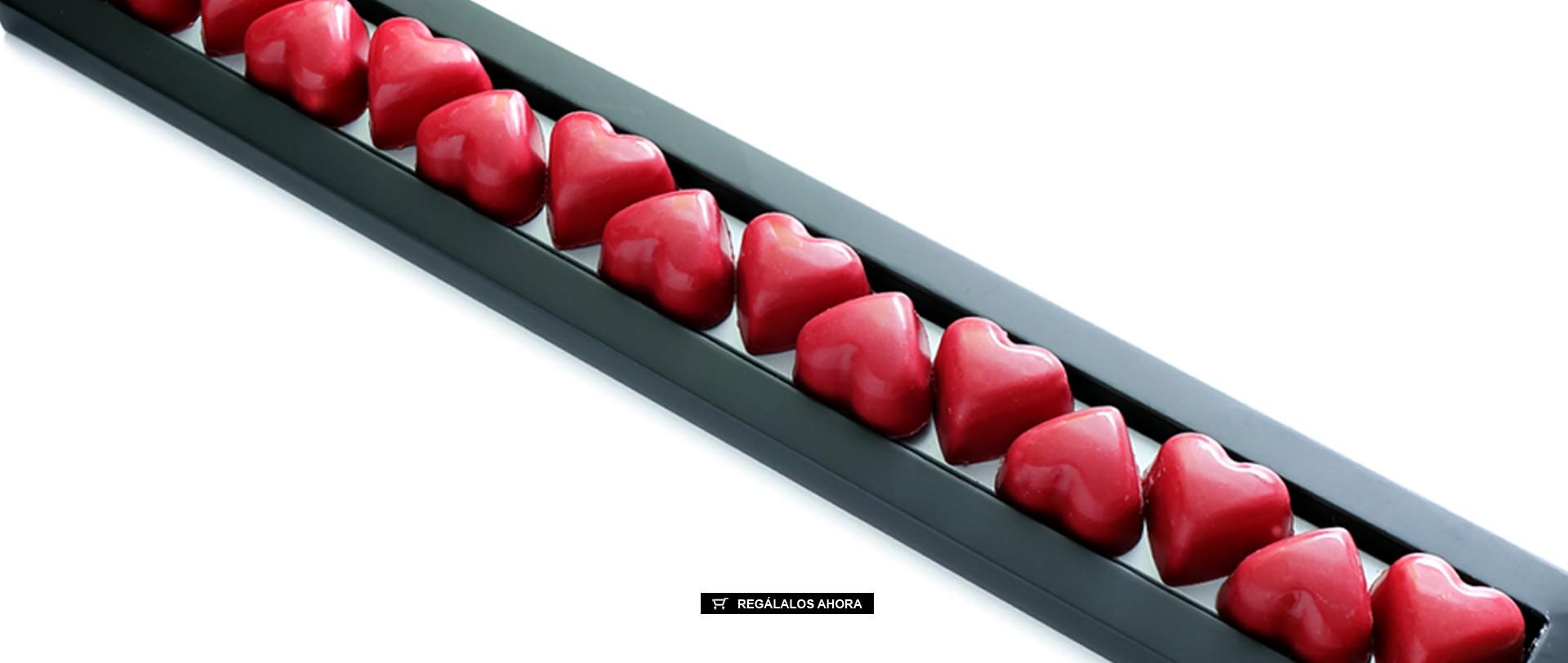 Bombones online con forma de corazón San Valentín